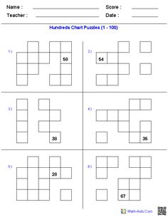 Puzzles with Hundreds Chart