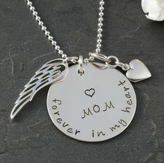 In remembrance Necklace  In memory of Mom by littleangelsmemory, $48.00