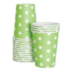 Paper Party Cups - Apple Green