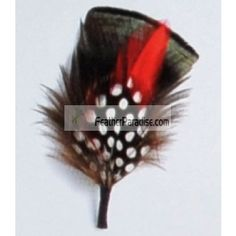 GA,USA 6 PCS Red//Black Feather Hat Pin//feather flower//Corsage //Feather Accents