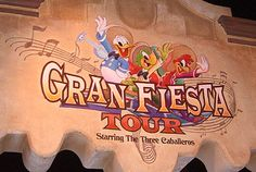 The Gran Fiesta Tour Starring the Three Cabelleros is a boat ride in Epcot at Disney World.