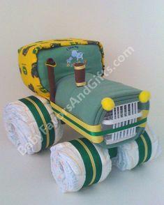 John Deere Tracktor Diaper Cake