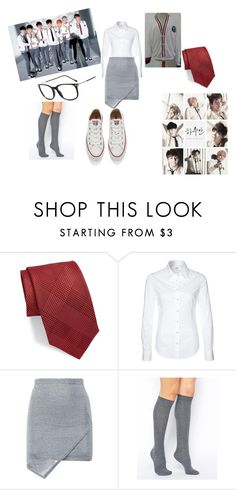 """Just One Day"" by kpop247 on Polyvore featuring BLACK BROWN 1826, Replay, ASOS and Converse"