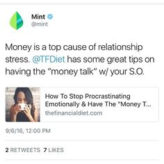 Thanks @mintapp for sharing our article about having the #moneytalk with your…