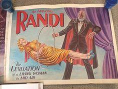 James 'The Amazing' Randi Memorabilia 2 Vintage Posters 1 Autographed Book   eBay
