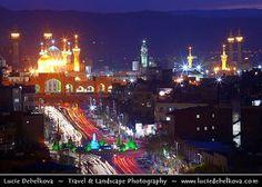 Iran - Mashad - Blue hour over Imam Reza Holy Shrine