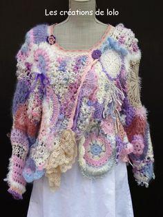 les-creations-de-lolo.over-blog.com - La passion du crochet, du tricot. Créer avec des fils, de la laine, de la laine filée au rouet, des perles et boutons, du ruban. Mon rêve!