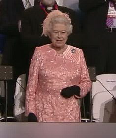 Queen Elizabeth takes her seat in the Royal Box. July 27, 2012.  Olympics 2012- London, England