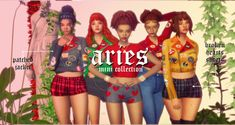 """glowpixel: """" aries this is very very late but the aries mini collection is finally here. i really like these items, there are four items this time but i hope thats ok. Sims 4 Collections, Cc Fashion, Sims 4 Characters, New Mods, Sims 4 Mm, Friend Poses, Sims 4 Cc Finds, Sims 4 Clothing, Sims Mods"""