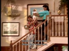 Haha Uncle Jesse and Joey with Michelle On full house The Paperboy, Uncle Jesse, Fuller House, Tv Show Quotes, I Love Lucy, Back In The Day, First Step, Childhood Memories, Movie Tv