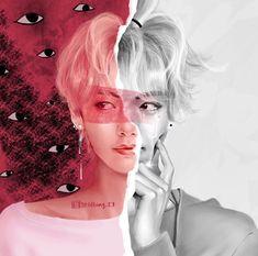 Credit to artist Taehyung Fanart, V Taehyung, Namjoon, Foto Bts, K Pop, Bts Love, Kpop Drawings, Korean Art, Bts Chibi