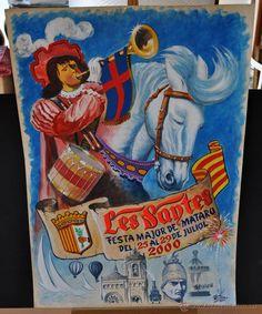 CARTEL ORIGINAL DE MARTI ROVIRA PARA LA FIESTA MAYOR DE MATARO DE LES SANTES. AÑO 2000 - Foto 1
