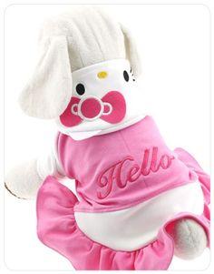 HELLO KITTY Pink Dog Costume Dress Clothes Apparel XS / S / M / L / XL / XXL