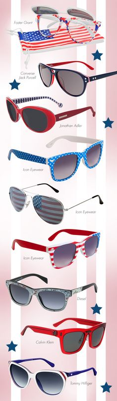 Sunnies Fit to Celebrate the Great US of A: http://eyecessorizeblog.com/2015/07/sunnies-fit-celebrate-great-usa/