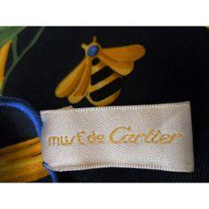 Foulard Carré en Soie, pas cher Scarf, écharpe, sciarpa, seidentuch, seta, vintage, CARTIER