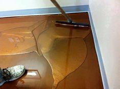 DIY Metallic Epoxy Boden - Metal Epoxy floor - Welcome Haar Design Epoxy Floor Diy, Metallic Epoxy Floor, Diy Epoxy, Garage Flooring Options, Diy Flooring, Flooring Ideas, Unique Flooring, Diy Origami, Metal Epoxy