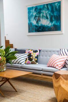 Marimekko's Tropical Home Marimekko, Living Room Modern, Home And Living, Living Rooms, Living Area, Living Spaces, Tropical, Home Interior Design, Interior Decorating