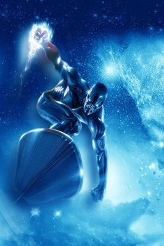 The mysterious Silver Surfer. Fantastic graphic art for a comic cover. Shared by http://www.bookcoverideas.com