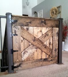 Keep your baby safe. Make your own baby gate! #DIY #Baby #Gate