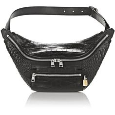 Alexander Wang Shoulder Bag (3.330 HRK) ❤ liked on Polyvore featuring bags, handbags, shoulder bags, black, alexander wang shoulder bag, fanny pack purse, waist fanny pack, bum bags and alexander wang handbags