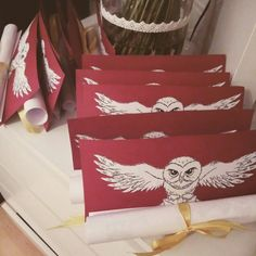 Harry Potter, birthday party invitations, Hedwiga.