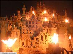 Sand Castles Ar Night