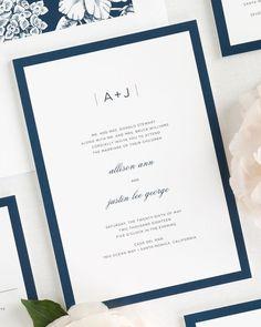 Muslim wedding invitations arabic stems rectangle classic glam monogram wedding invitations stopboris Images