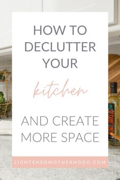 The kitchen can easily be one of the most cluttered areas in your home, especially if it lacks storage space like mine. So instead of wishing you had more storage, why not create a little breathing room by having a good decluttering session in there? Here is a step by step guide on how to declutter your kitchen. #decluttering #minimalism #simpleliving #simplify Declutter Bedroom, Spice Shelf, Clean Fridge, Minimal Home, Minimalist Lifestyle, Decluttering, Kitchen Hacks, Simple Living, Step Guide