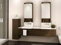 La collection Wall vous simplifie la vie avec sa robinetterie préinstallée à même le lavabo. La silhouette élancée de sa pharmacie et sa lingerie placée à mi-hauteur meubleront avec grâce les petits espaces.Plusieurs dimensions et configurations disponibles.