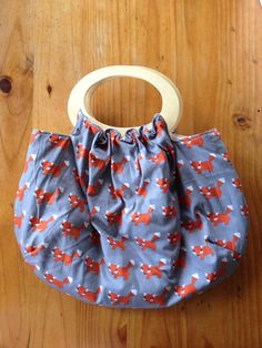 Fully lined Hoop handle handbag