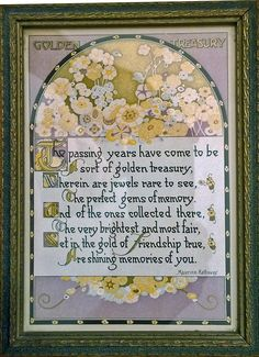 Golden Treasury : Maurine Hathaway Best Motto, Mottos, Reading Material, Vintage Prints, Vintage World Maps, Poems, Artsy, Framed Prints, Illustrations