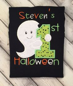 My 1st Halloween Onesie Halloween Ghost by LilStytchesBoutique
