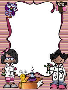 Science Lab Decorations, School Decorations, School Binder Covers, Science Chart, Clown Crafts, School Border, Kindergarten Portfolio, Frame Border Design, School Frame