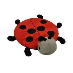 This adorable round ladybug can be used as a cuddly, soft plush activity mat or belly blanket! $49.95 #imaginetoys #toys #baby #infant #developmental #kids #unique #learning #educational