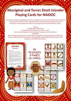 A resource pack to help commemorate naidoc week includes for Go fish instructions