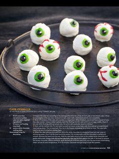 Cake Eyeballs - The Pioneer Woman Halloween Treats   #halloween #recipes #dessert