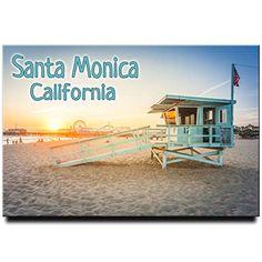 Santa Monica Pier and Beach fridge magnet California travel souvenir Los Angeles Magnet Sv Santa Monica California, Travel Souvenirs, California Travel, Beach, Seaside