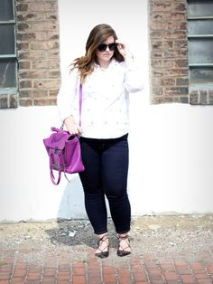 3.1 Phillip Lim bag, Aquazzura flats, Joe's Jeans -- Sugar and Chiffon