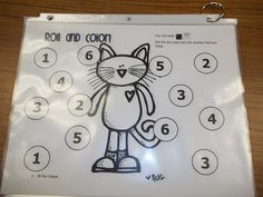 Roll and cover with Pete!  Math Tubs in Kindergarten