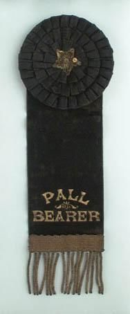 #FuneralTraditions- Pall Bearer Ribbon. http://www.thefuneralsource.org/traditions.html