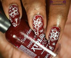 WNAC December 2015: Snowflakes Bundle Monster, Stamping Nail Art, Art Challenge, Almond Nails, Sally Hansen, Natural Nails, Swag Nails, Snowflakes, Swatch