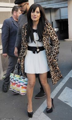 Take walk on the wild side: Lily Allen looked lovely in leopard print as she headed to NRJ... http://dailym.ai/RmmV96#i-b4110e7f