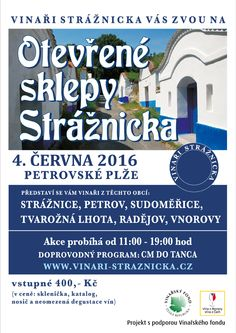 Opening of wine cellars in Strážnice Wine Cellars, Events, Poster, Billboard, Wine Cellar