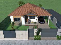 Diseño casa campestre el edén Home Building Design, Building A House, Future House, My House, Fence Design, My Dream Home, Interior And Exterior, Gazebo, House Plans