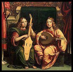 VIOL AND LUTE (1500) Francesco Francia ( 1450- 1517), fue un pintor, orfebre y medallista italiano, activo en la ciudad de Bolonia. Siguió el estilo armonioso y un tanto dulce de Perugino, prolongándolo tardíamente, cuando Rafael ya iba imponiendo un clasicismo más moderno y atrevido.