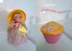 Cupcake Dolls 1990s toys. I think her hat smelled like a cupcake too. Why do we not have these toys still. More kids would know how to actually play.