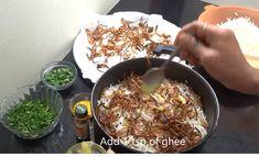 हैदराबादी चिकन दम बिरयानी रेसिपी! How to make Haydarabadi Chicken Dam Biryani in hindi with Photo? [Step-By-Step] Breakfast Bread Recipes, Dum Biryani, Cake Recipes, Oatmeal, Chicken, Ethnic Recipes, Food, The Oatmeal, Recipes For Cakes