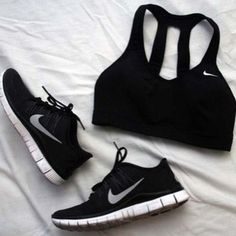 Female Fitness Goals Gym Gear Sports Bra Trainers Sneakers Workout Exercise Abs Muscle Toned Body
