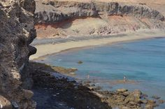 Playa de La Colorada al lado del muelle de Morro Jable.  Fuerteventura, Islas Canarias.