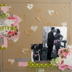 such a sweet pregnancy layout <3 love the craft paper and pink and green, could definitely do blue theme for a boy!